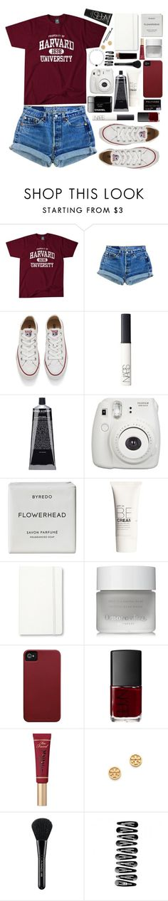"""""""school next Thursday.."""" by thirteen-hearts ❤ liked on Polyvore featuring Levi's, Converse, NARS Cosmetics, Grown Alchemist, Fujifilm, Byredo, H&M, Moleskine, Omorovicza and Case-Mate"""