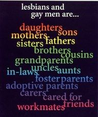 Lesbians and gay men are...