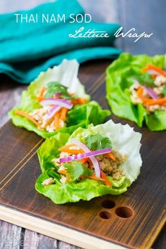 Nam Sod Lettuce Wraps #healthy #thai
