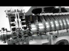 Siemens SGT-750 gas turbine flythrough