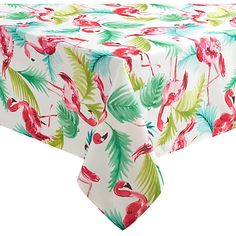 Wrinkle Resistant And Spill Proof Tablecloth Offers Easy Care Versatility.