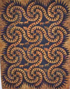 Sand Devils ~ Quiltworx.com, made by Certified Instructor, Linda Tellesbo