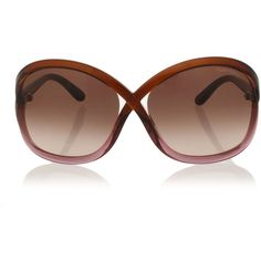 tom ford SANDRA Sunglasses with Faded Lenses (4 475 UAH) ❤ liked on Polyvore featuring accessories, eyewear, sunglasses, brown, tom ford sunglasses, plastic glasses, tom ford sunnies, tom ford and brown glasses