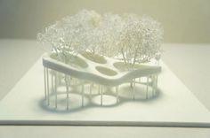 belvédère infini - folie, geneva, 2011 by gramazio & kohler Poster Architecture, Perspective Architecture, Texture Architecture, Architecture Design Concept, Landscape Architecture Model, Architecture Drawing Plan, Architecture Model Making, Conceptual Architecture, Landscape Model