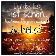 #Menschen die #lächeln ,sind #schön :) !!! #Erwähne oder #Markiere #jemand auf diesem #Bild,damit die #Botschaft heute jeder erhält,liest und lächelt !!! Habt alle einen wunderschönen #Tag und lasst euch nicht stressen... ☮ღツ  #sprüche #gedanken #menschen #picoftheday #du und #ich #you an #me gegen den rest der #Welt ✌️