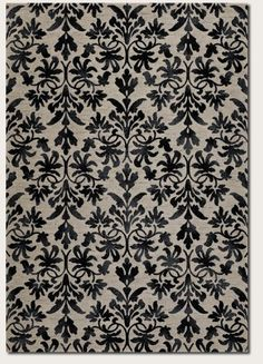 Couristan 63166333 Everest Retro DamaskGreyBlack 7Feet 10Inch by 11Feet 2Inch Rug * See this great product.