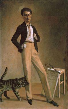 Balthus - Figurative Painting - 1935 - King of cats - Self Portrait - Autoportrait Figure Painting, Painting & Drawing, Taking Cat, Charles Angrand, L'art Du Portrait, John Piper, Illustration Art, Illustrations, Edward Hopper