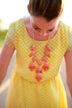 yellow and coral