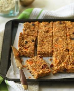 A Review of The Eat-Clean Diet Recharged & a Recipe! | fitbottomedgirls.com. Sweet potatoes oat bars