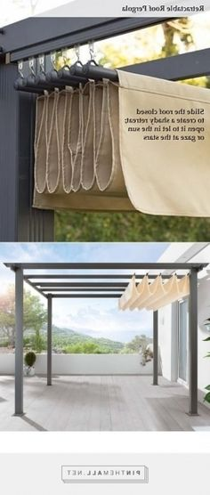 New Completely free retractable pergola diy Ideas, Superb pergola cover ret . New Completely free retractable pergola diy Ideas, Superb pergola cover ret . There are lots of points that can easily eventually complete the yard, for instance. Diy Pergola, Patio Diy, Building A Pergola, Metal Pergola, Deck With Pergola, Covered Pergola, Pergola Shade, Outdoor Pergola, Metal Roof