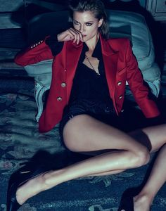 fashion editorials, shows, campaigns & more!: night vision: kasia struss by chris colls for the edit by net-a-porter august 2015 Fashion Models, Fashion Beauty, Womens Fashion, Luxury Fashion, Look Magazine, Tough Girl, Party Looks, Military Fashion, Celebrity Pictures