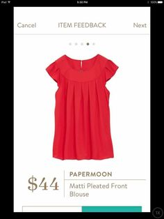 papermoon matti pleated front blouse is so pretty - love the color, too