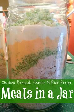 My favorite recipe for Chicken Broccoli Cheese n Rice Casserole. Making Dinner Magic - Meals in a Jar http://preparednessmama.com/meals-in-a-jar/