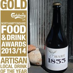 Gold winner for Artisan Local drink at the Northamptonshire Food and Drink Awards 2013/2014