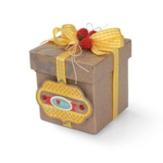 Label of Love Gift Box Make your loveliness known! With Sizzix dies from the Lori Whitlock collection, you can add elegant charm instantly to just about anything.