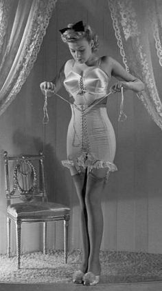 War corsetry, 1940s rationing, 40s fashion, rubber needed for the war effort not for corsetry