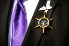 Nautical wedding Compass Boutonniere groom and by allforLOVEbyGina, $20.00