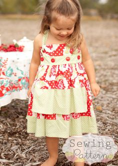 Knot Dress Sizes 6/12 months to Size 6 PDF by sewsweetpatterns, $6.00