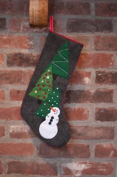 Christmas Stocking Design Ideas christmas stockings decorating ideas_13 Project Snowman Stocking With Pattern Christmas Stocking Patternfelt Stockingstocking Ideaschristmas Patternsfelt