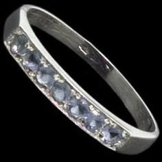 Silver ring, CZ,  zircons line Silver ring, Ag 925/1000 - sterling silver. With stones (CZ - cubic zirconia). A fine ring with seven round zircons set in silver. The zircons are set by goldsmiths, not glued!