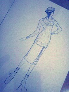 Try to draw a knit