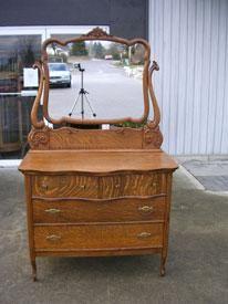 Victorian Oak Bedroom Sets | ANTIQUE BEDROOM FURNITURE   C1890 VICTORIAN  OAK SERPENTINE
