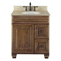 allen + roth 20J VSDB30 Ballantyne 30-in x 21-in Mocha with Ebony Glaze Traditional Bathroom Vanity | Lowe's Canada