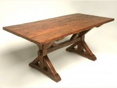 Antique French Cherry Table Top on New Base