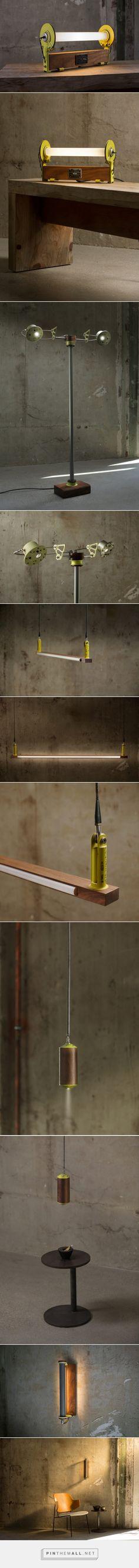 Lighting Made with Aluminum Aerospace Parts and Wood by Alper Nakri - Design Milk - created via https://pinthemall.net