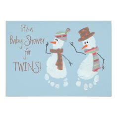 10 Cute Twins Baby Shower Invitations for a Winter Baby Shower