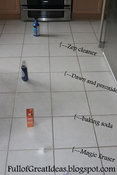 Grout cleaning techniques tested - Zep grout cleaner and Dawn dish soap/peroxide are the two winners