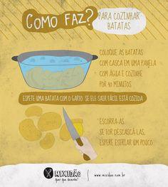 Como faz para cozinhar batatas?