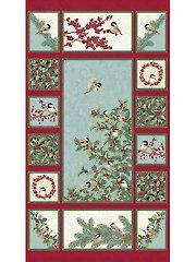 "Fabric - Chickadees & Berries Panel - 24"" x 42"" - #277465 BEAUTIFUL!!!"