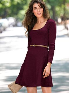 Fit and flare fall dress// cute with black tights, boots, etc. is this too basic for a bridesmaids dress? I do want my girlies to be able to wear again