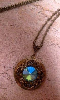 Hey, I found this really awesome Etsy listing at https://www.etsy.com/listing/152628001/crystal-locket-necklace-swarovski