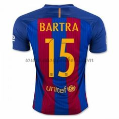 Fodboldtrøjer La Liga Barcelona 2016-17 Bartra 15 Hjemmetrøje