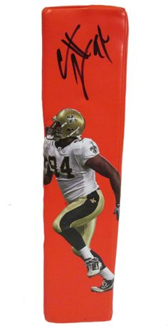 Cameron Jordan signed New Orleans Saints Rawlings football touchdown end zone pylon w/ proof photo.  Proof photo of Cameron signing will be included with your purchase along with a COA issued from Southwestconnection-Memorabilia, guaranteeing the item to pass authentication services from PSA/DNA or JSA. Free USPS shipping. www.AutographedwithProof.com is your one stop for autographed collectibles from New Orleans sports teams. Check back with us often, as we are always obtaining new items.