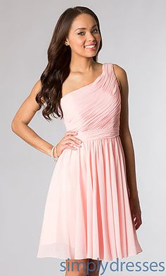 Dresses, Formal, Prom Dresses, Evening Wear: Short One Shoulder Dress