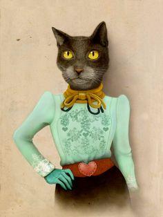 Stylish cat / Illustration / Ilustración