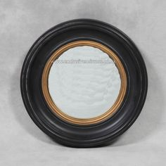 Black and Gold Round Mirror dia **Last One Remaining** - - Mirrors for Every Interior from Exclusive Mirrors Convex Mirror, Black Mirror, Round Mirrors, Gold, Interiors, Living Room, Elegant, Stylish, Inspiration