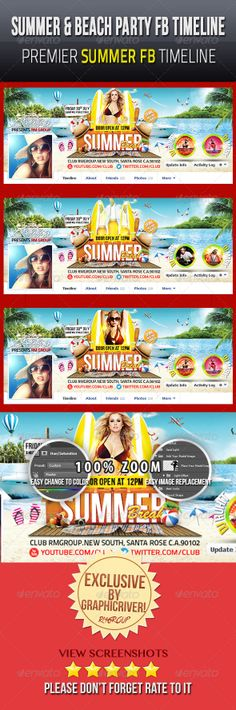 Summer & Beach Party Facebook Timeline Cover V1 - Facebook Timeline Covers Social Media