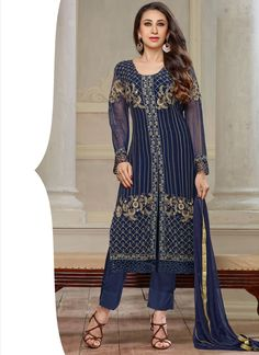 http://www.sareesaga.in/index.php?route=product/product&product_id=15805 Work:Embroidered Resham Work Style:Salwar suit Shipping Time:10 to 12 Days Occasion:Party Festival Casual Fabric:Georgette Colour:Blue For Inquiry Or Any Query Related To Product,  Contact :- +91 9825192886