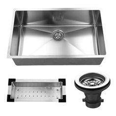 32 x 19 Undermount Stainless Steel Single Bowl Kitchen Sink with Price : $ 205.99