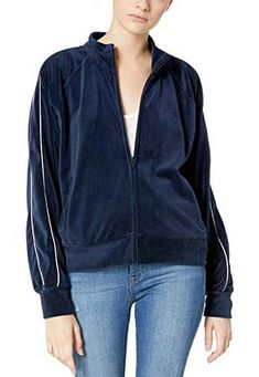 BB Dakota Womens Cover Velour Track Jacket oil slick