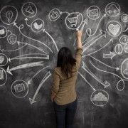 View top-quality stock photos of Girl Drawing Social Meida Icons On Chalkboard. Find premium, high-resolution stock photography at Getty Images. Facebook Business Account, Facebook Marketing, Role Of Social Media, Part Time Jobs, Business Pages, Business School, Online Business, La Red, Creating A Business