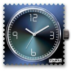 Reloj stamps shades of blue 1511068