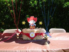 Cowboy centerpiece - PARTY WONDERLAND Custom Party Goods for all occasions!