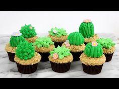 HOT CAKE TRENDS 2016 Buttercream Cactus cupcakes | Cacti cupcakes - How to make by Olga Zaytseva - YouTube