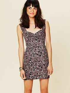 Smocked Printed Bodycon  http://www.freepeople.com/whats-new/smocked-printed-bodycon/