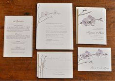 love the simple, minimalistic stationery. Chris and I could use our thumb prints together to make the orchid petals.